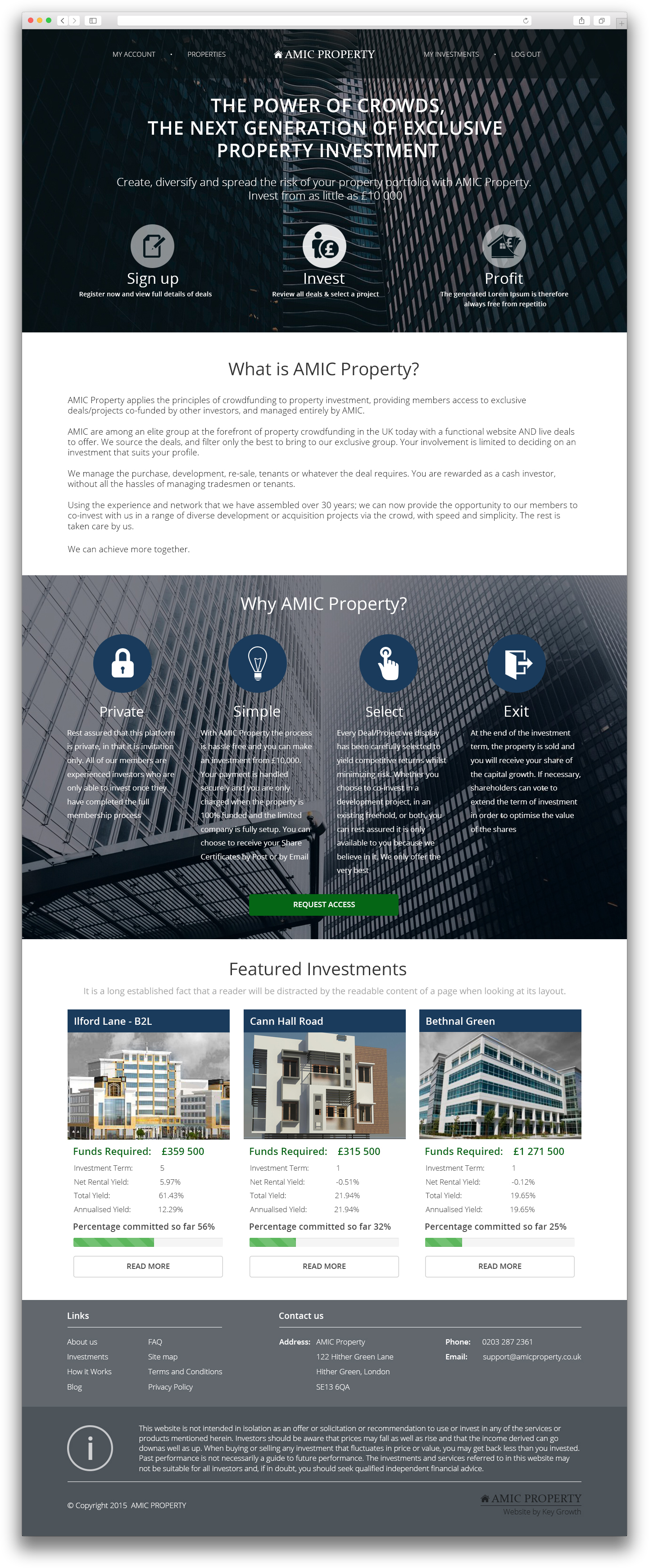 Amic Property Front page